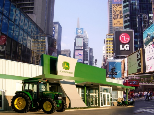 John Deere in Times Square?