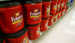 The best part of waking up...a big ol' bucket of Folgers!